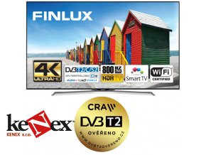 Finlux TV43FUC8060 - HDR UHD 4K, DVB S2/T2/C HEVC, SMART, HBB TV, BLUETOOTH, WIFI