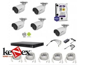 kamerovy set vnitrni hikvision ip full hd 05 v rozliseni 1080p 5xip kamer