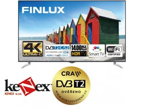 finlux tv65fuc8061 hdr uhd t2 sat wifi