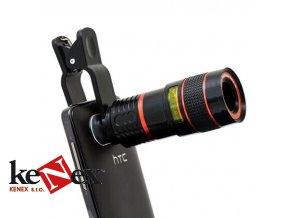 objektiv na mobil a tablet dalekohled