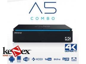 amiko a5 satelitni prijimac combo s2 t2 c hybrid s android hevc i7678