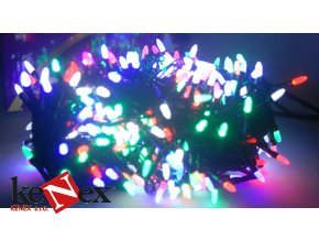 vanocni led osvetleni 10 m zelene 100 led dlouhe