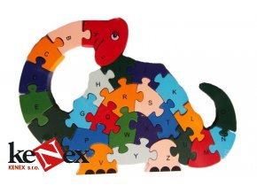 puzzle drevene dinosaurus