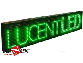 led reklama bezici text tabule displej zelena green