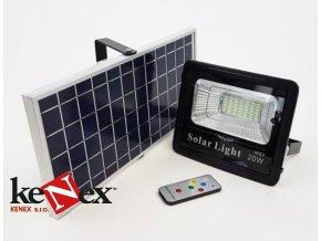 venkovni led reflektor 20w se solarnim panelem a dalkovym ovladacem