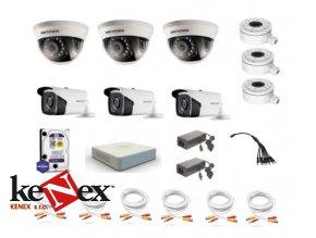 kamerovy set hikvision proffesional 3 stropni 3 na stenu turbo hd kamery