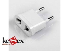 Redukce (adaptér) do zásuvky US/EU 250V 10A, bílá  Speciální cena pro registrované