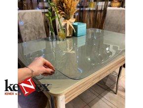ubrus na stul z mekkeho skla 58x107 cm
