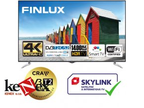 finlux 65fue8160 hdr uhd t2 sat wifi skylink live