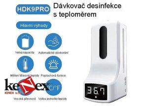 hdk9pro gelovy bezkontaktni davkovac desinfekce a infra teplomer telesne teploty