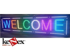 wifi led reklama svetelne tabule barevna panel 300x40cm
