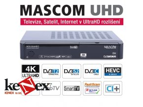 mascom mc9130 dvb s2 t2 c iptv wifi 4k uhd prijimac