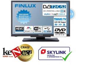 finlux 24fdm5760 t2 sat dvd smart wifi 12v