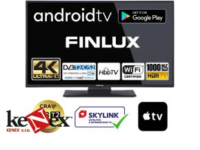 finlux 43fuf7070 android hdr uhd t2 sat hbbtv wifi skylink live