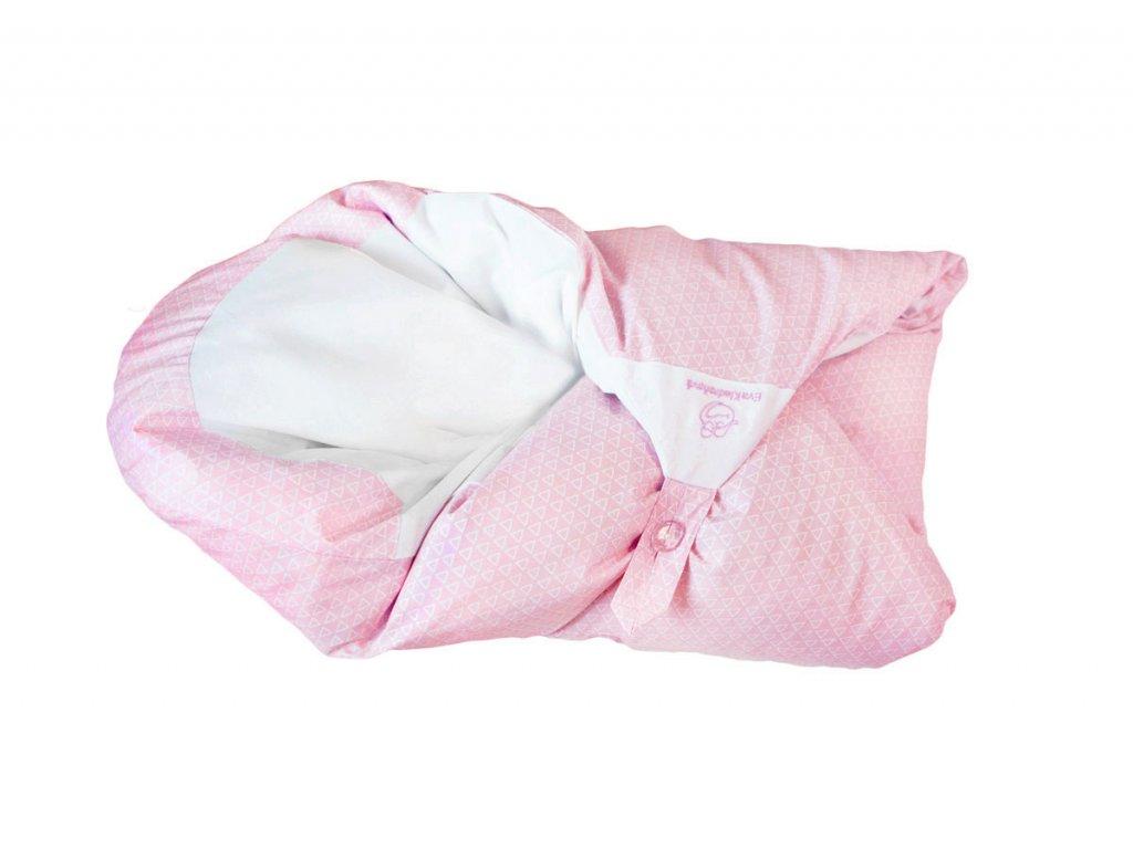 Povlak světle růžový s geom. vzorem (Maxi dráček)