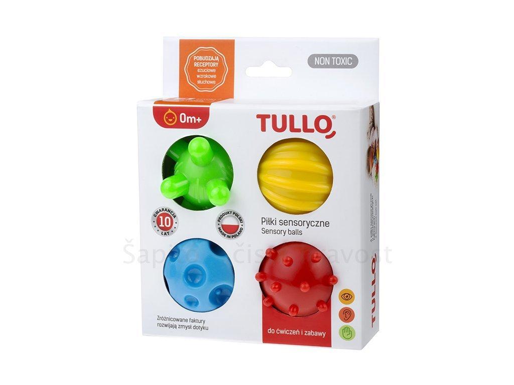Senzorické pomůcky - malé míčky 4 ks