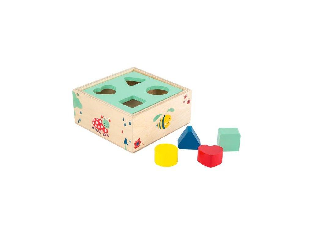 1648 motoricke hracky lesni krabicka vkladani tvaru