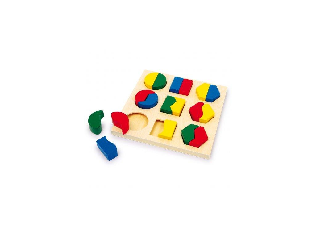 Dřevěné hračky - Vkládačka - Barevné tvary