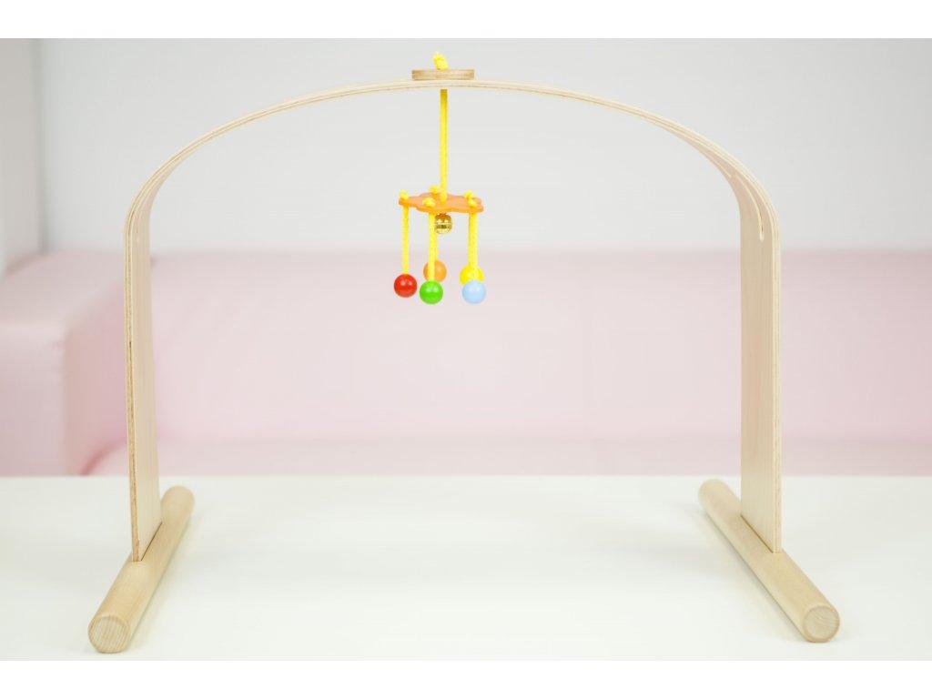 Kolotoč-závěs s kuličkama k hrazdičce