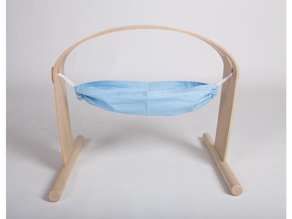 Závěsný vak k hrazdičce (Hamaka) modrý s puntíky