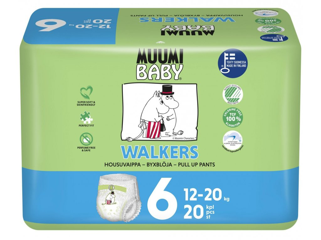 Pleny MUUMI BABY Walkers 6 Junior 12-20 kg (20 ks)