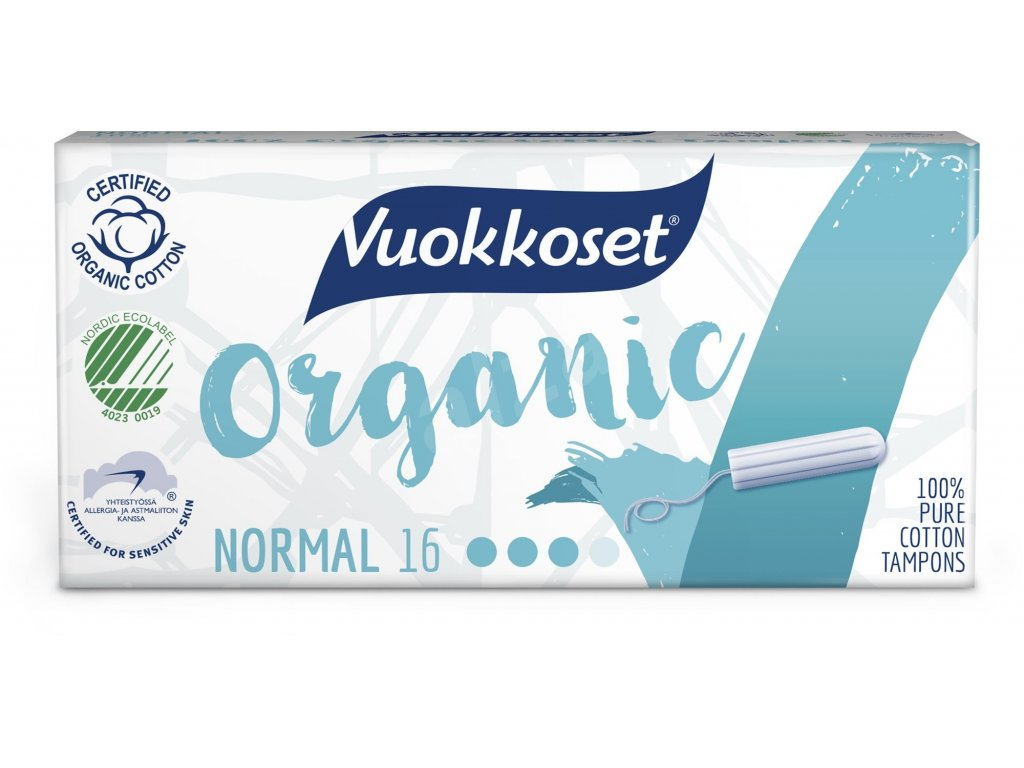 VUOKKOSET Organické tampony normal 16 ks
