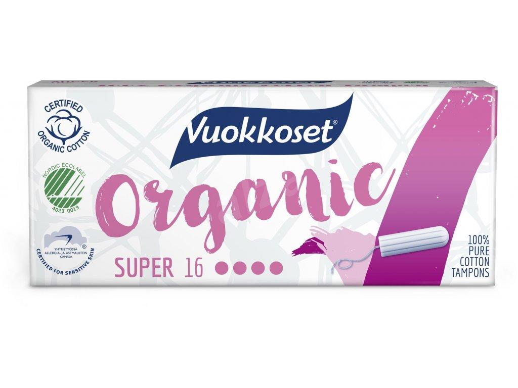 VUOKKOSET Organické tampony super 16 ks