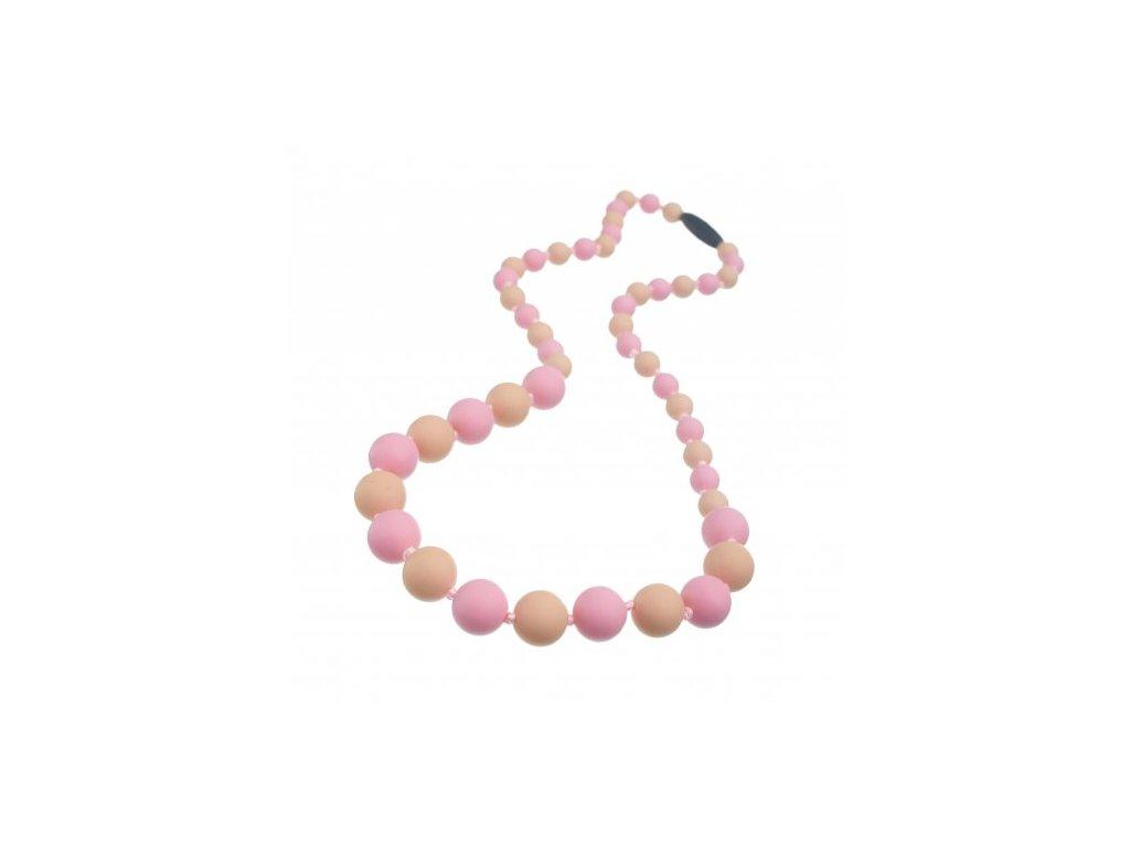 Silikonové korále pastelově růžová - pudrová