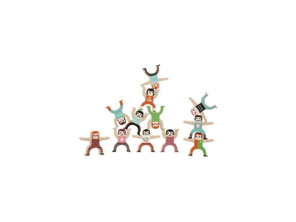 Dřevěné postavičky akrobati