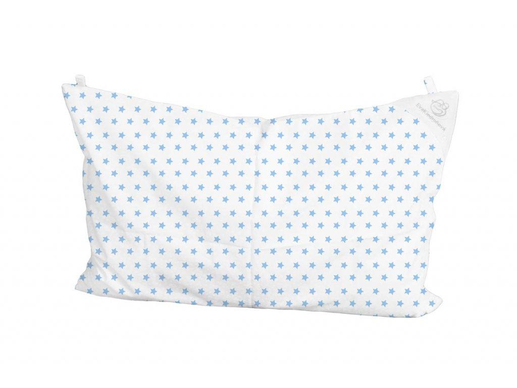 Bílý modré hvězdičky přikryvka
