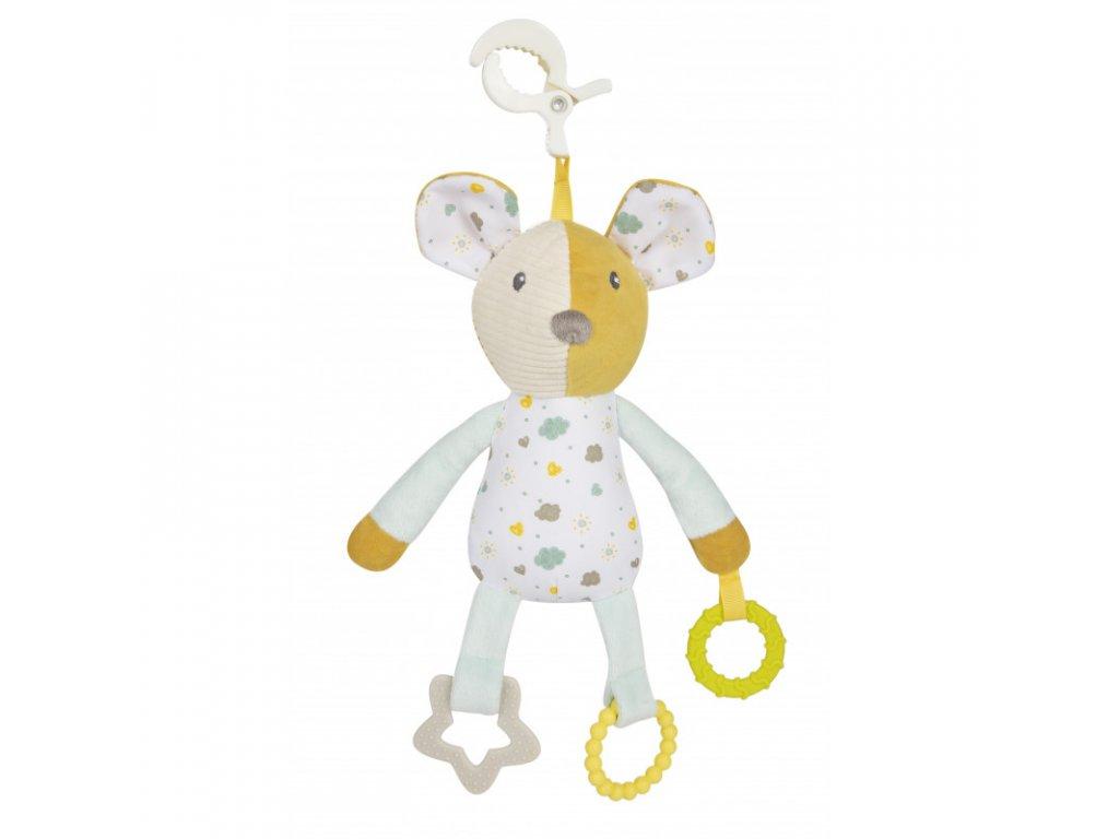 canpol babies hebky mazlicek na klipu s kousatky mouse