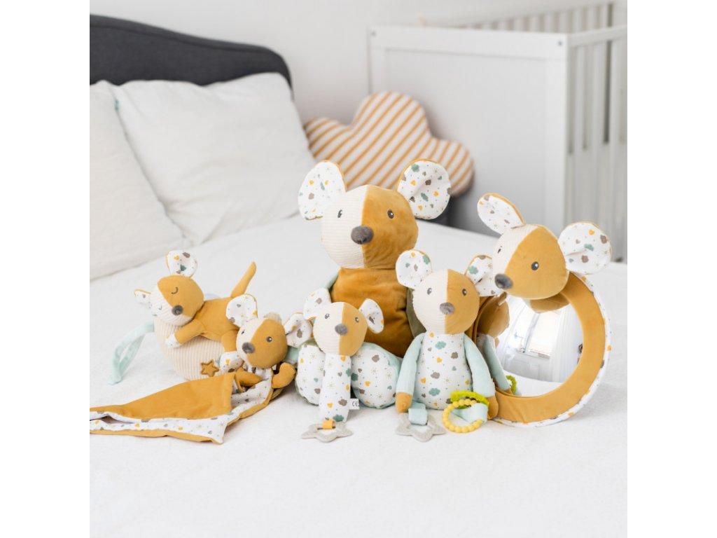 canpol babies hebky usinacek s chrastitkem mousea