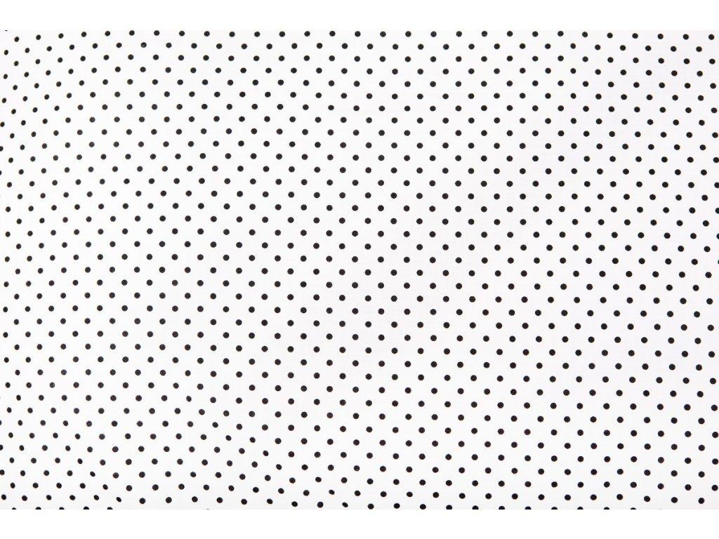 bílá černý puntík polštář 40x60