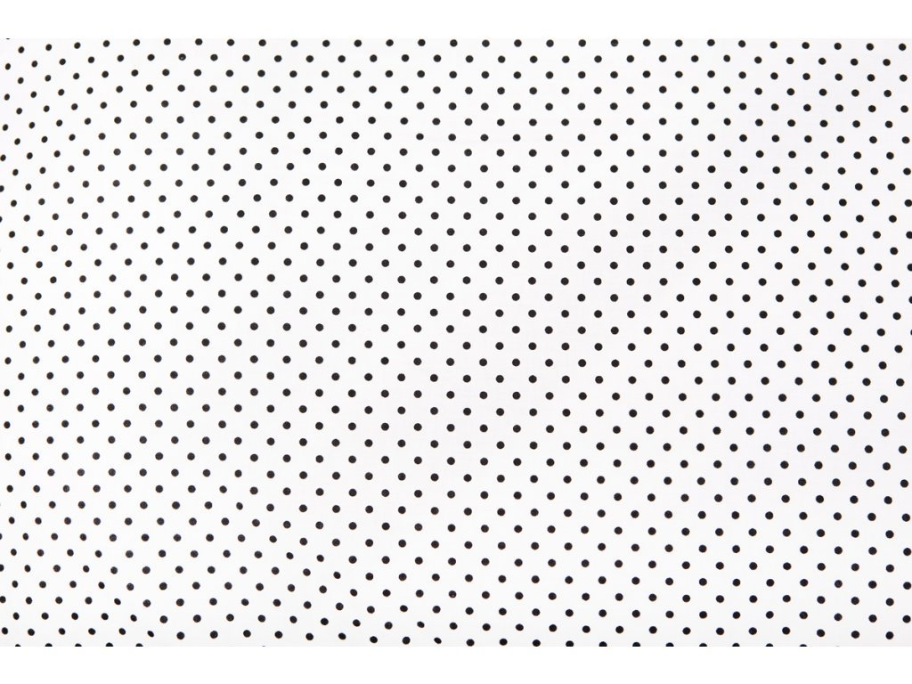 bílá černý puntík přikrývka