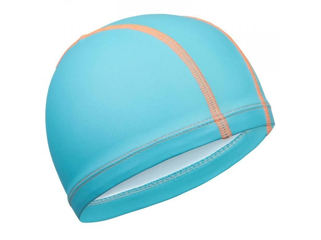 Látková čepice se silikonovým zátěrem modrá