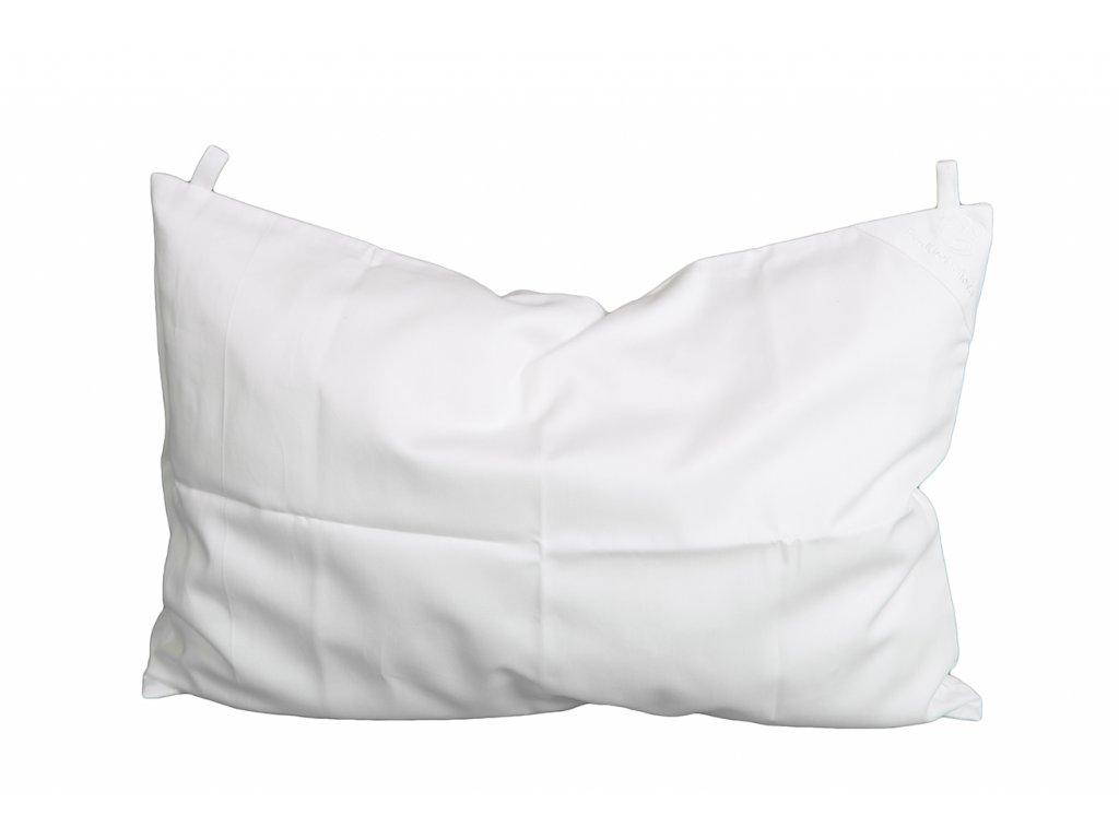 Povlak na polštář 60x40 s poutky bílý