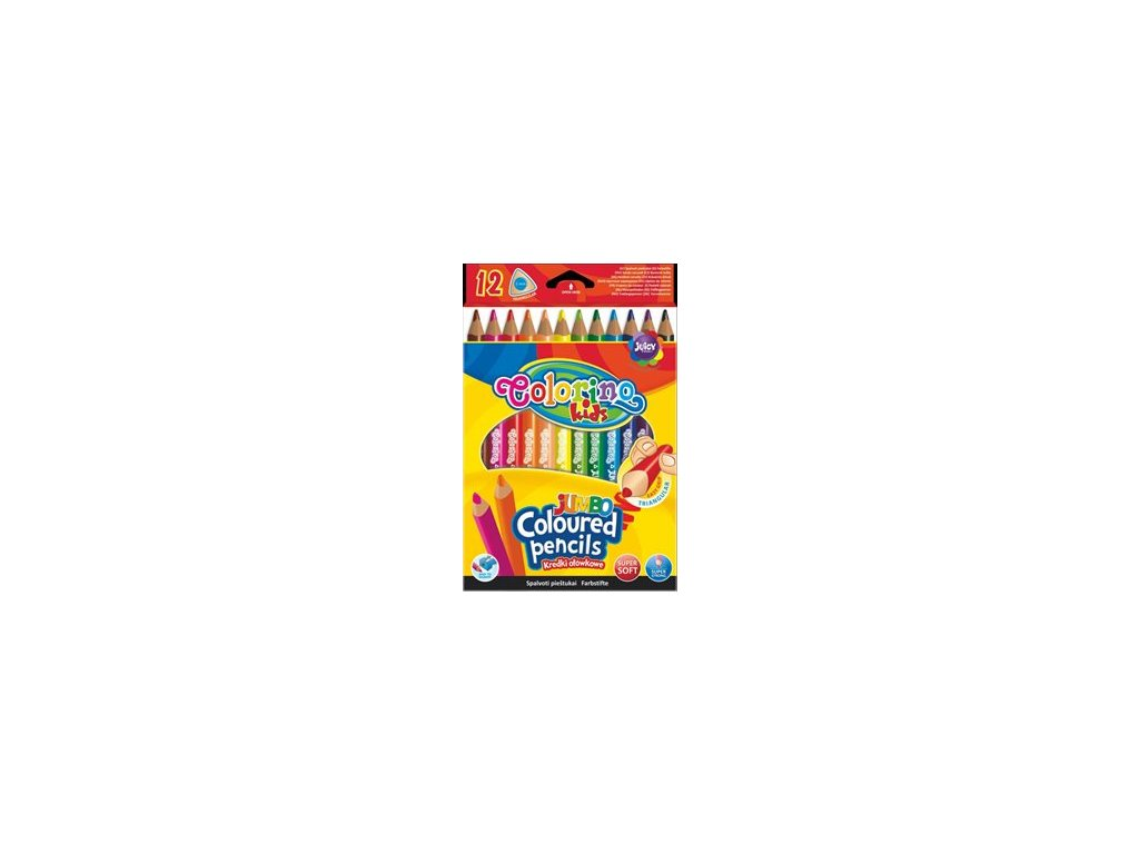 637 trojhranne pastelky colorino jumbo 12 barev