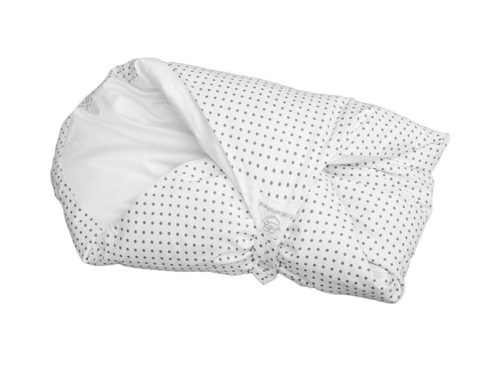 Povlak bílý s šedými puntíky (Malá peřinka bez volánku)