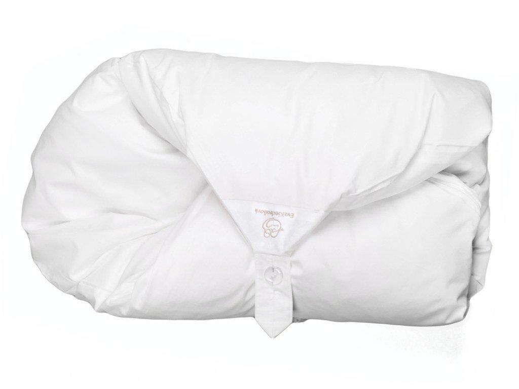 bílý jednobarevný maxi dráček
