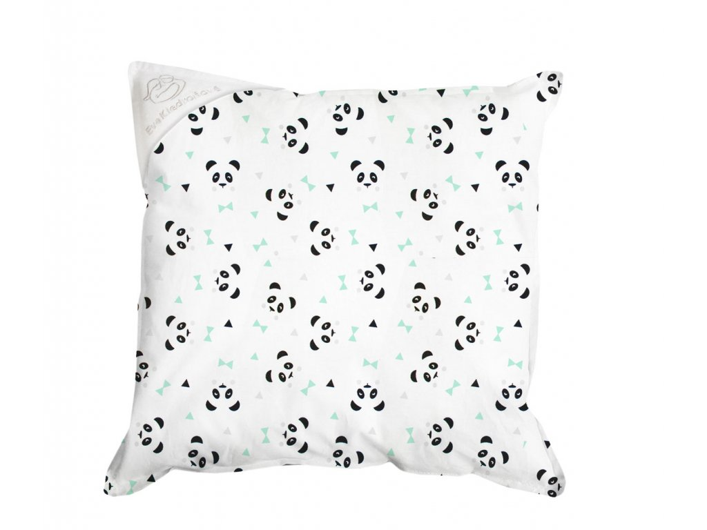 panda tyrkys polštař 30x30