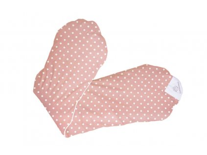 Povlak na relaxační polštář -nachová se smetan.puntíky