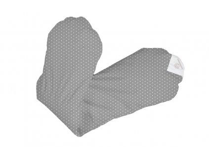 Povlak na relaxační polštář - šedá s puntíky