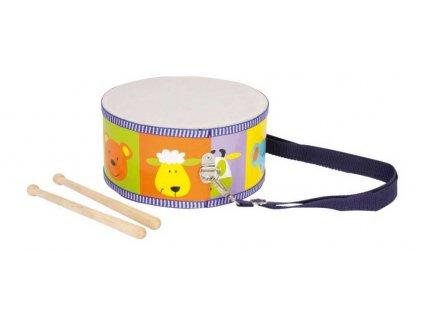 Dřevěné hudební nástroje buben zvířata