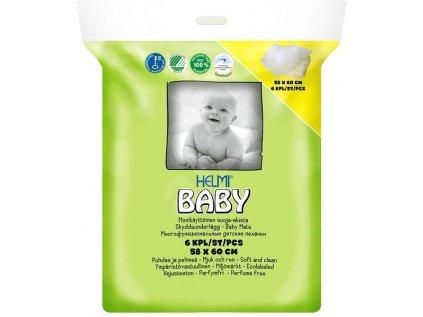 Helmi baby HELMI BABY ekologické přebalovací podložky 58 × 60 cm, 6 ks