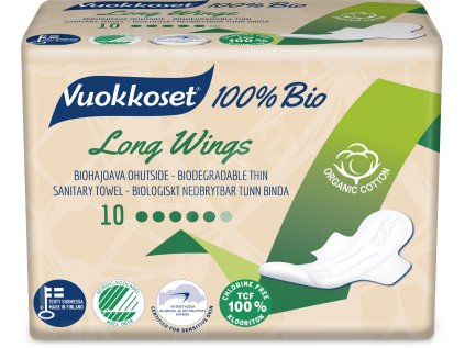 VUOKKOSET Vložky - Long Wings thin 10ks