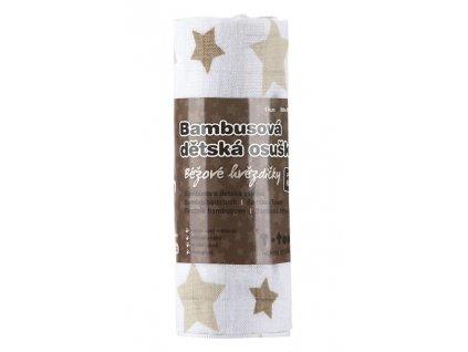 2515 bio bambusova osuska beige stars bezove hvezdicky