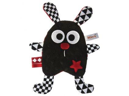 Černobílá hračka Králík Eda
