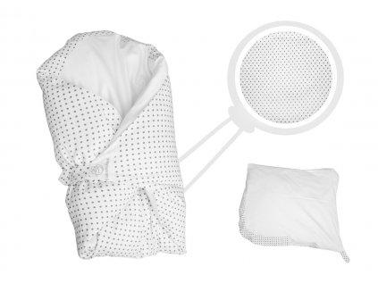 Povlak bílý s šedými puntíky (Dráček bez volánku)
