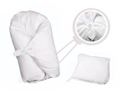 Povlak bílý jednobarevný (Dráček bez volánku)