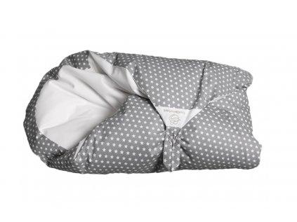 Povlak šedý s bílými hvězdičkami (Maxi dráček)